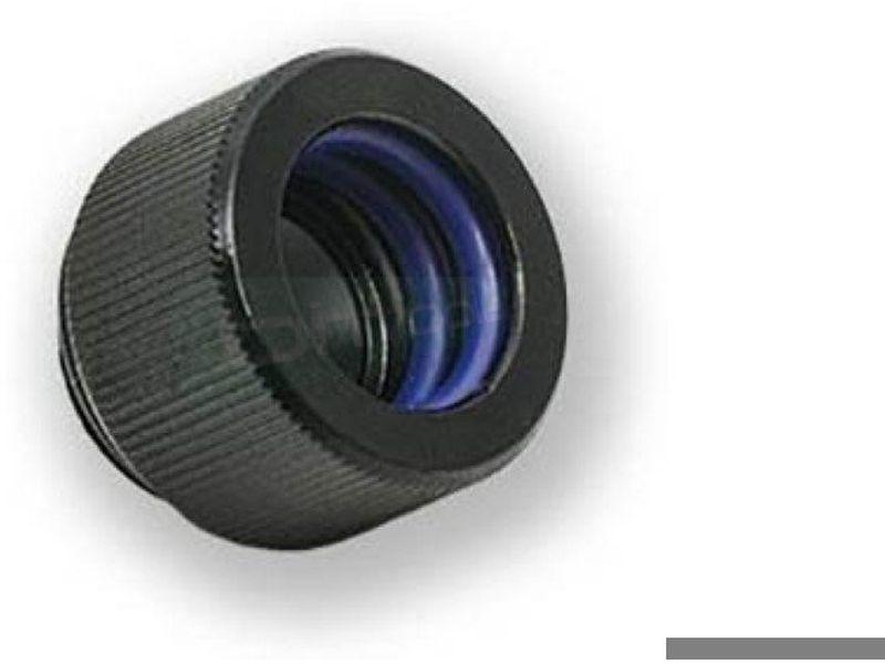 EK Adaptador EK-HD 12-10mm. Black - Adaptador (o racor) para el uso de tubo rígido, ya sea acrílico o de cobre.