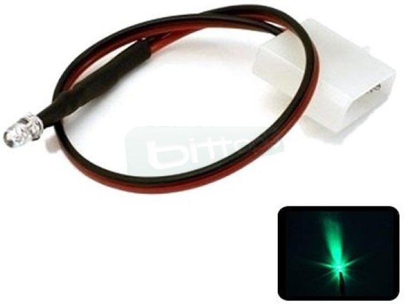 Phobya LED 5mm. Ultrahell Verde - Led ul-trabrillante de 5mm. perfecto para iluminar algo concreto del equipo o para su instalación en bombas, depósitos, bloques de refrigeración líquida, frontales de caja etc…