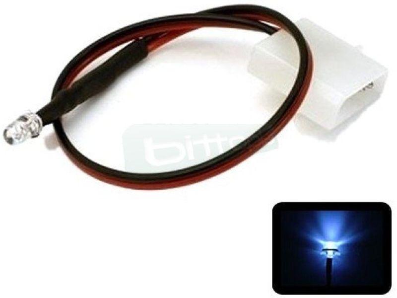Phobya LED 5mm. Ultrahell Blanco - Led ul-trabrillante de 5mm. perfecto para iluminar algo concreto del equipo o para su instalación en bombas, depósitos, bloques de refrigeración líquida, frontales de caja etc…