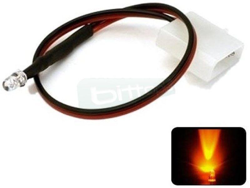 Phobya LED 5mm. Ultrahell Naranja - Led ul-trabrillante de 5mm. perfecto para iluminar algo concreto del equipo o para su instalación en bombas, depósitos, bloques de refrigeración líquida, frontales de caja etc…