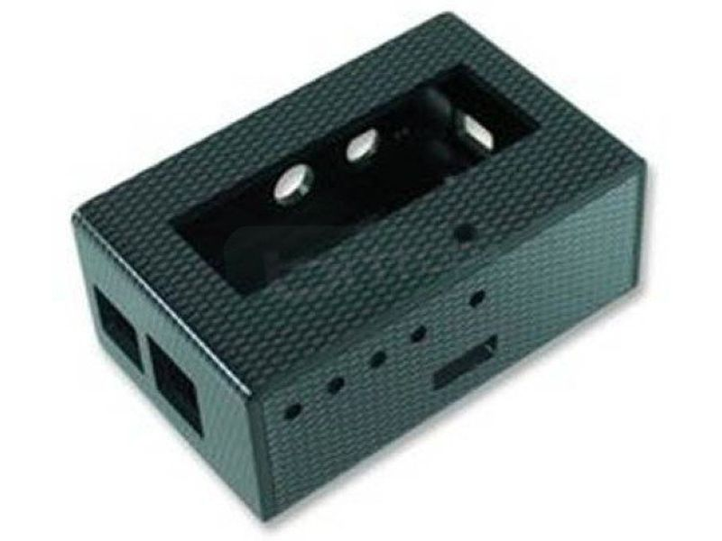 Caja para KIT Raspberry Pi + PiFace + Display. Fib - Caja con acabado en fibra de carbono. Compatible con las placas Raspberry PI Type A o Type B.