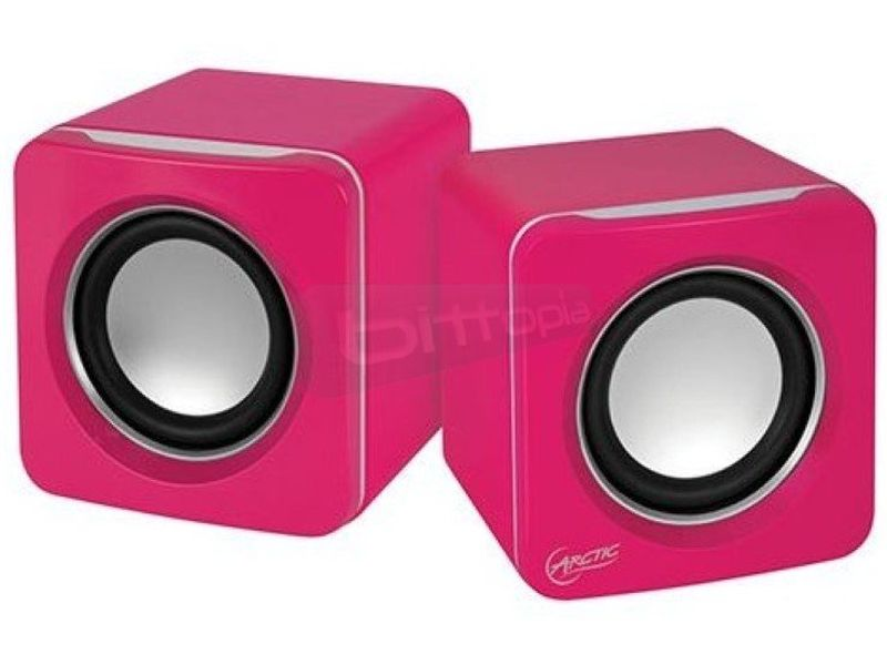 Arctic S111 Rosa. Altavoces portátiles - Altavoces Ultra-Portátiles en color rosa. Jack 3,5 estéreo y USB. 200gr.
