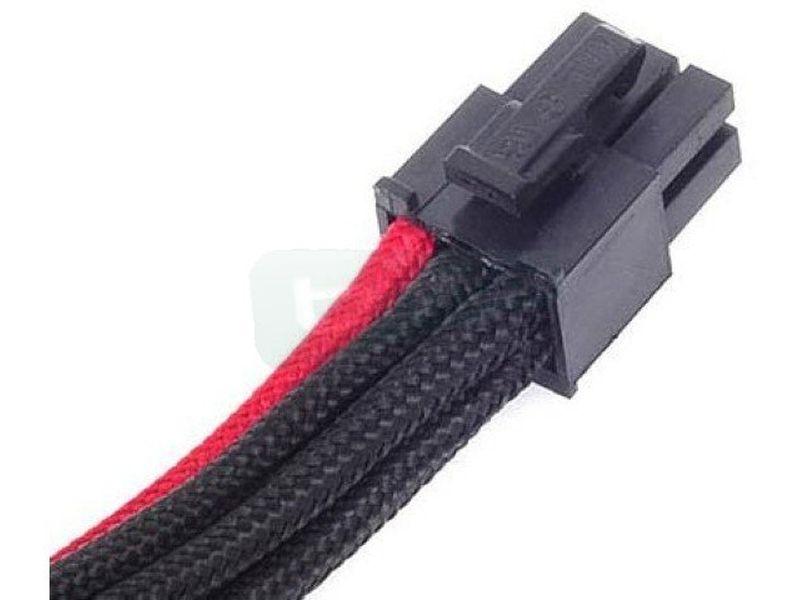 SilverStone PP07-IDE6BR. NegroRojo. Extensor alime - Cable alargador alimentación a VGA conector 6-pin a 6-pin. En color negro/rojo.