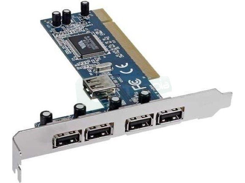 Inline 66673V. Tarjeta PCI 4xUSB + USB interno - Tarjeta de expansión PCI con cuatro puertos USB 2.0 traseros y un puerto USB 2.0 interno.