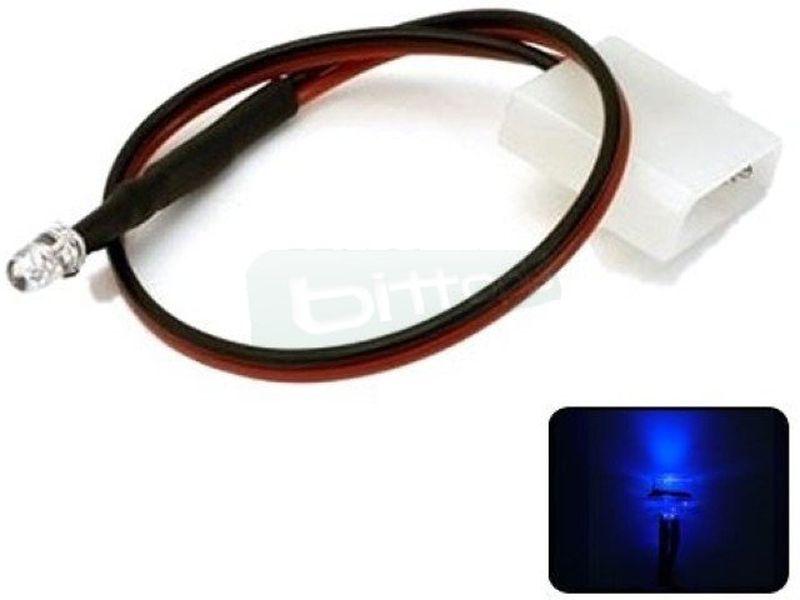 Phobya LED 5mm. Ultrahell UV - Led ultra-brillante de 5mm perfecto para iluminar algo concreto del equipo o para su instalación en bombas, depósitos, bloques de refrigeración líquida, frontales de caja etc..