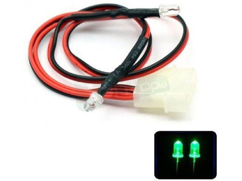 Phobya LED Doble 5mm. Ultrahell Verde - Led doble ultra-brillante de 5mm perfecto para iluminar algo concreto del equipo o para su instalación en bombas, depósitos, bloques de refrigeración líquida, frontales de caja etc..