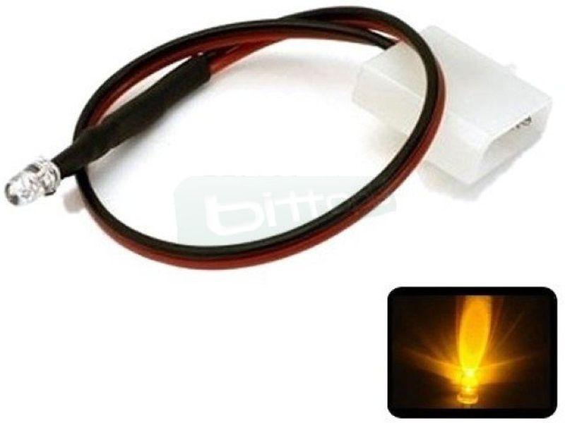 Phobya LED 5mm. Ultrahell Amarillo - Led ultra-brillante de 5mm perfecto para iluminar algo concreto del equipo o para su instalación en bombas, depósitos, bloques de refrigeración líquida, frontales de caja etc..