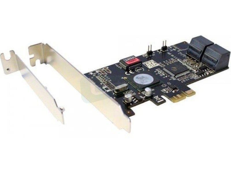 Inline 76612A. Tarjeta PCIeX1 4xSATA II, RAID 0,1,5,10 con soporte Low Profile