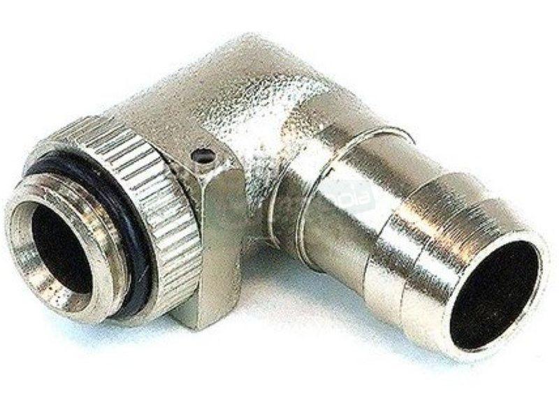 Phobya racor espiga 90º 13mm G1/4 - Racor de espiga en ángulo 90º para tubos de 13mm de diámetro interior.