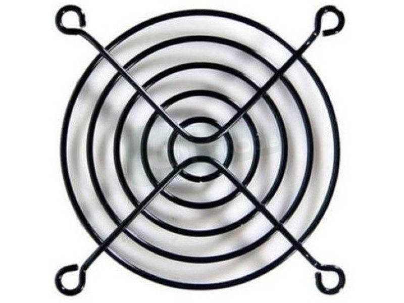 Rejilla metalica 120x120 Negra - Rejilla fabricada en metal compatible con ventiladores de 120mm.