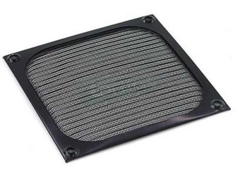 Filtro aluminio 80x80 Negro Cuadrado - Filtro anti-polvo de aluminio  para ventiladores de 80mm.