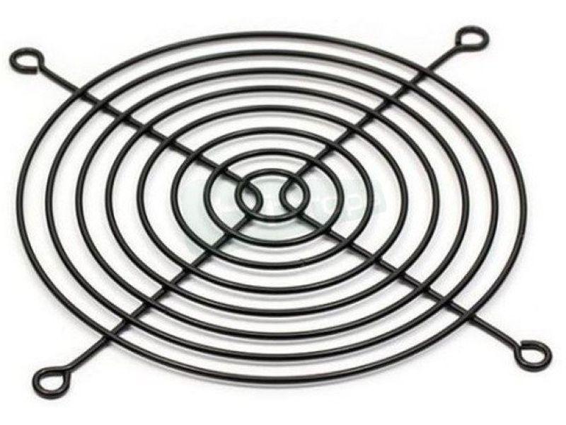 Rejilla metalica 140x140 Negra - Rejilla fabricada en metal compatible con ventiladores de 140x140mm.