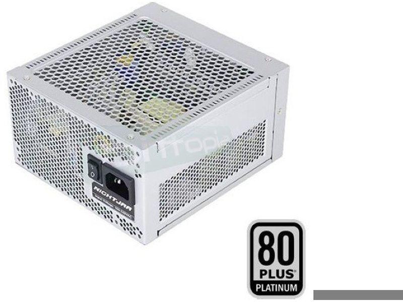 Silverstone NJ520 Nightjat sin ventilador 520W (80 - Fuente de alimentación FANLES. Potencia de 520W. Cableado modular. Certificación 80+ Platinum.