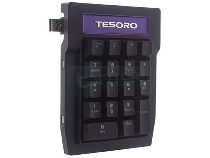 Tesoro Tizona Numpad. Extensión teclado mecánico B - Teclado numérico mecánico USB en color negro. Brown Switch. 18 Teclas. 24x105x141mm. 320gr. Fuerza de accionamiento 45G.