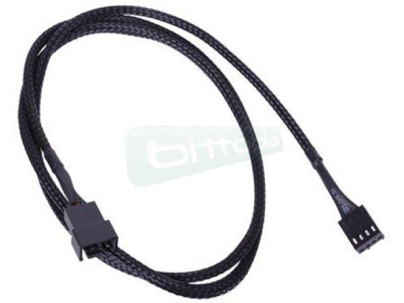 Phobya Alargo PWM 4pin 90cm Sleeve Negro - Alarga la conexión de tus dispositivos de 4-Pin PWM. Longitud 90cm.