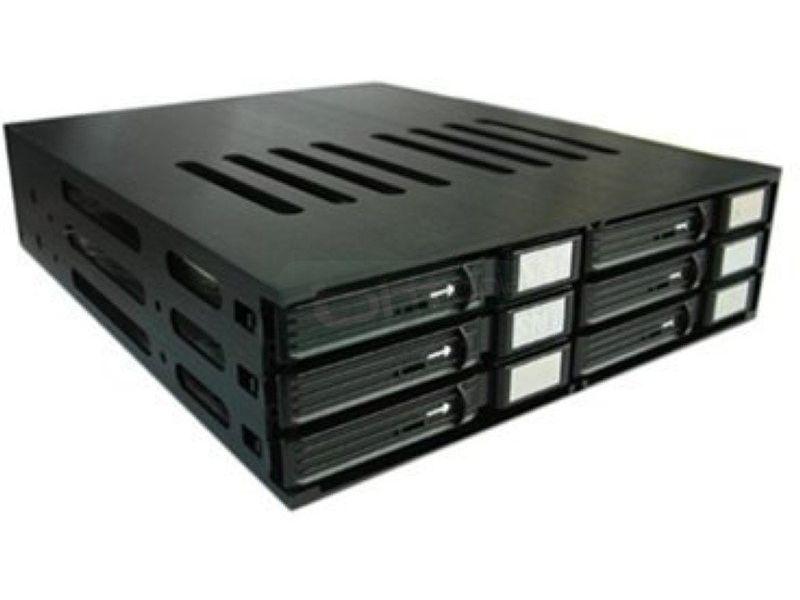 Backplane SATA/SAS 5.25. para 6x2.5 HDD - Módulo para 6 discos de 2.5 que ocupa una bahía de 5.25. 2 Ventiladores traseros de 40mm.