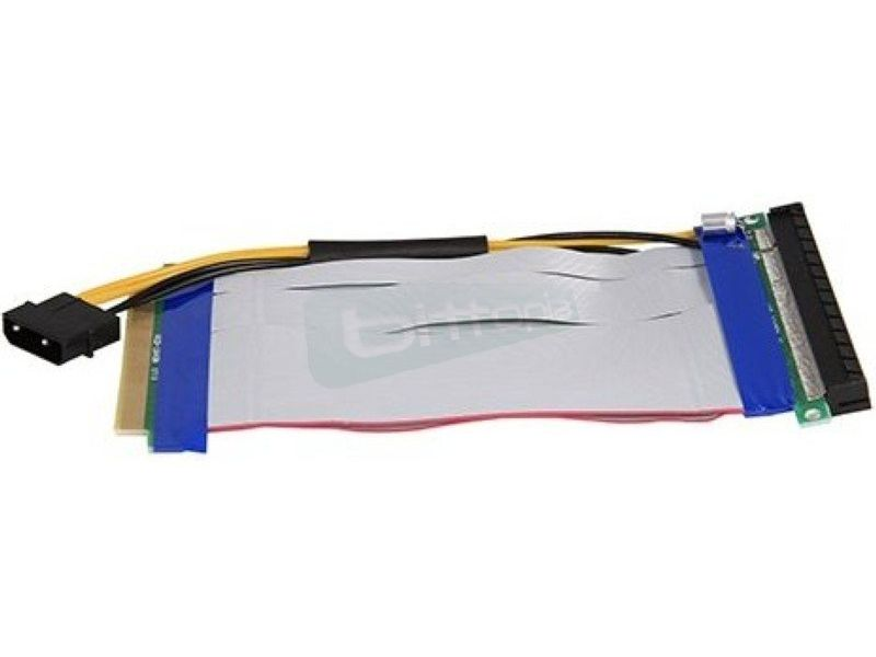 Adaptador PCI-E 16x a 16x con alimentador - Cable adaptador de PCI 16x a 16x. Con alimentación.