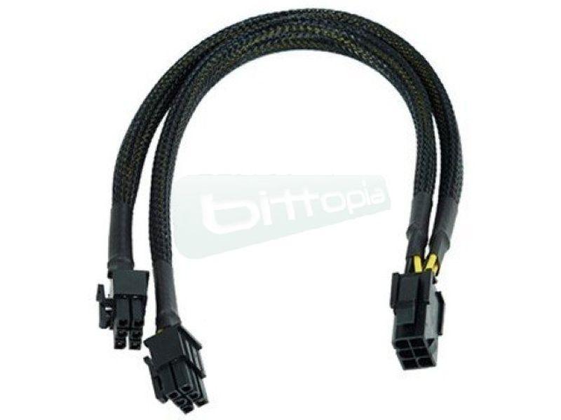 Phobya ladron PCI-EX 6pin Negro - Duplica la salida de 6Pin PCIe de tu fuente de alimentación.