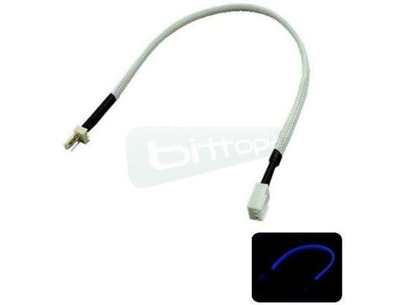 Phobya Alargo 3pin 30cm Sleeve Blanco UV - Alarga la conexión de tus dispositivos de 3-Pin. Longitud 30cm.