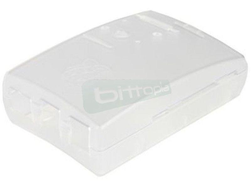 Caja Transparente para Raspberry Pi Bplus - Caja transparente para placas Raspberry Pi Type B+. No requiere herramientas para su montaje.