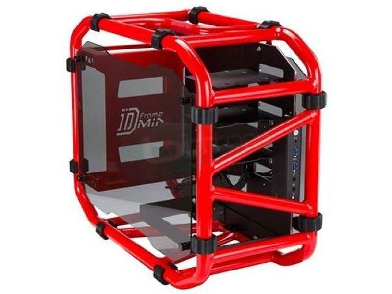 In Win D-Frame Mini Roja - Caja con estructura al aire. Fabricada en aluminio. Conexiones: 2 x USB 3.0. y AudioHD. 2 PCI. 3 bahías internas 3.5. 2 bahías internas 2.5. Mini-ITX.