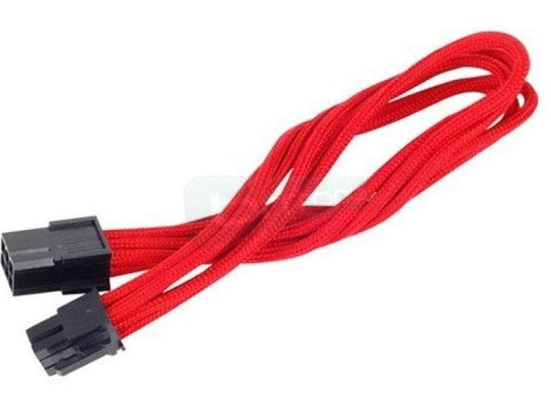SilverStone PP07-IDE6R. Rojo. Extensor alimentación a VGA - Cable alargador alimentación a VGA conector 6-pin a 6-pin. En color rojo.
