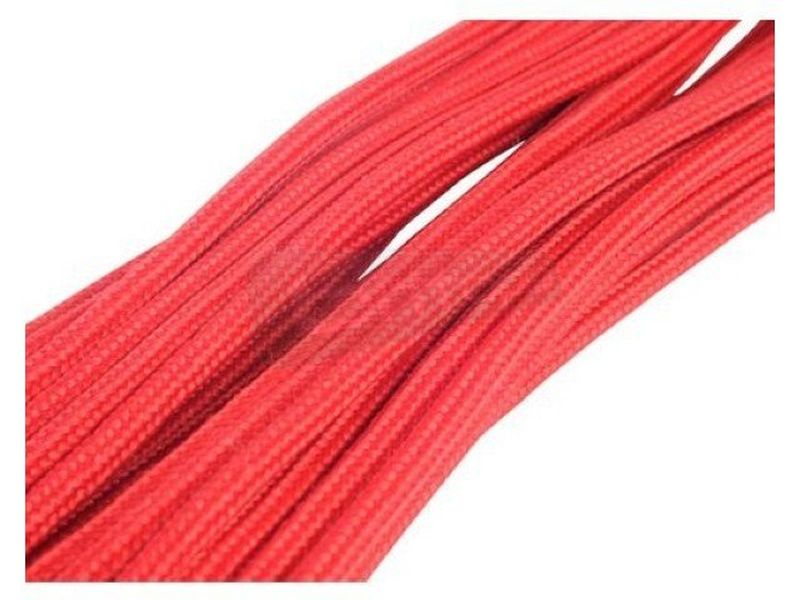 SilverStone PP07-MBR. Rojo. Extensor alimentación - Alargador cable alimentación 24-pin. 300mm. En color rojo.