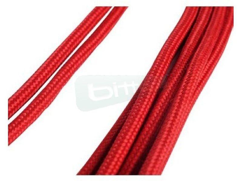 SilverStone PP07-PCIR. Rojo. Extensor alimentación - Cable alargador alimentación placa base conector 8-pin a 8-pin(6+2). En color rojo.