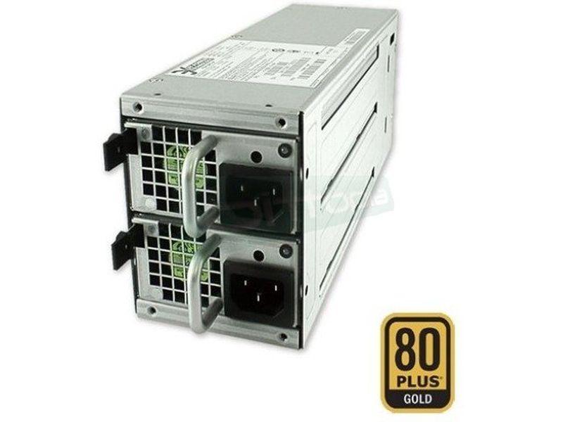 Fuente alimentación para RACK 2U 680W Reduntant 80 - Fuente redundante 680W. Certificación 80+ Gold. 2 Ventiladores 40mm. 1 Rail 12V.