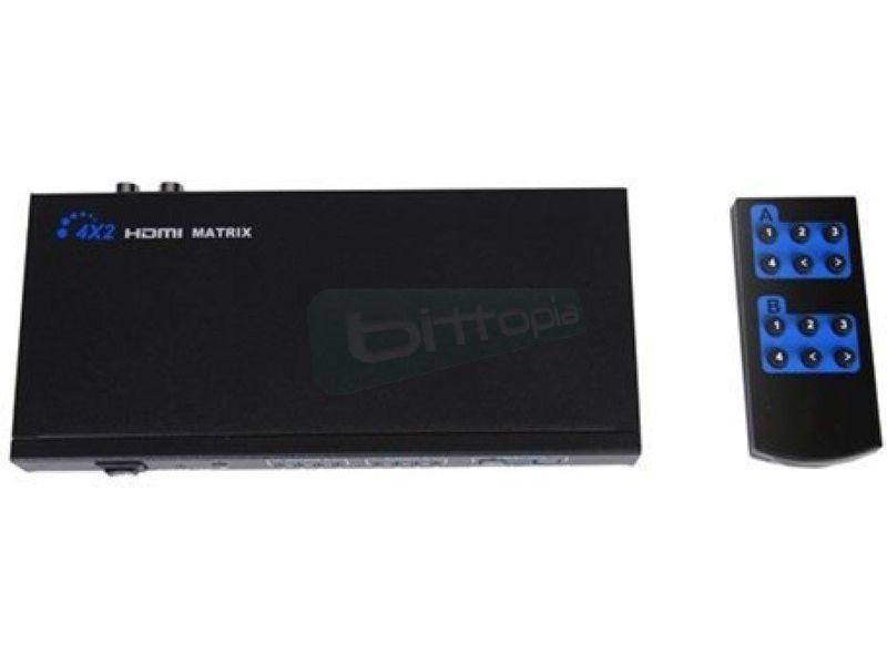 Matrix HDMI 4 entradas 2 salidas