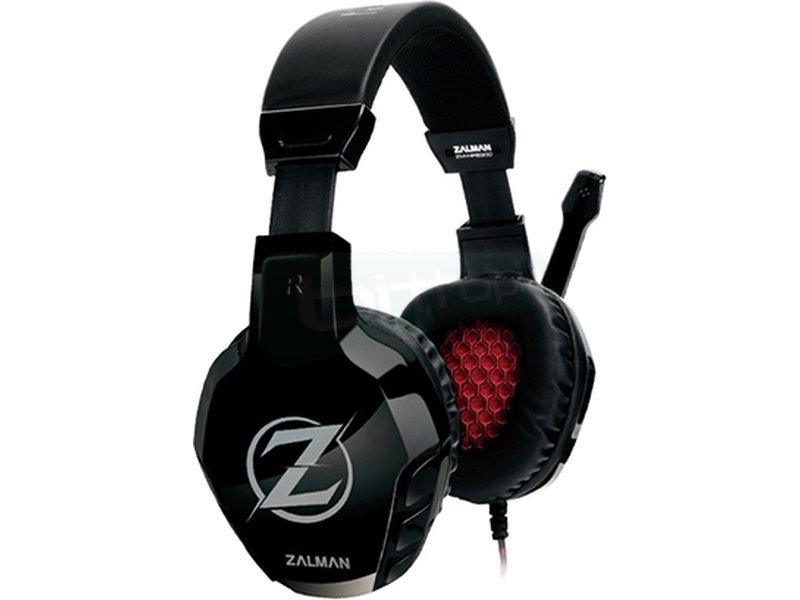 Zalman HPS300. Auricular gaming 50mm - Auricular diadema + micrófono. Frecuencia 20Hz-20kHz. Jack 3.5mm. Altavoces de 50mm.