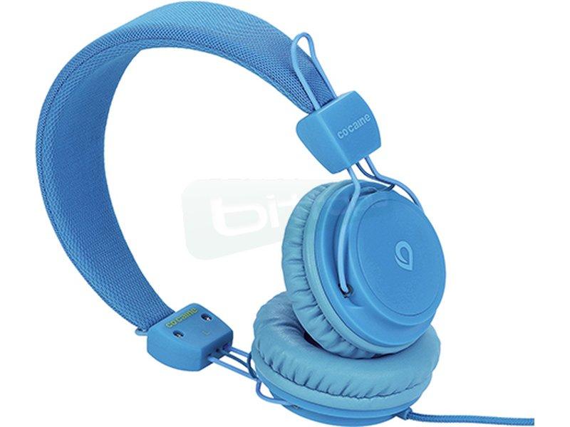 Co:caine City Beat Blue - Auricular diadema. Frecuencia 20Hz-20kHz. Jack 3.5mm. Altavoces de 40mm.