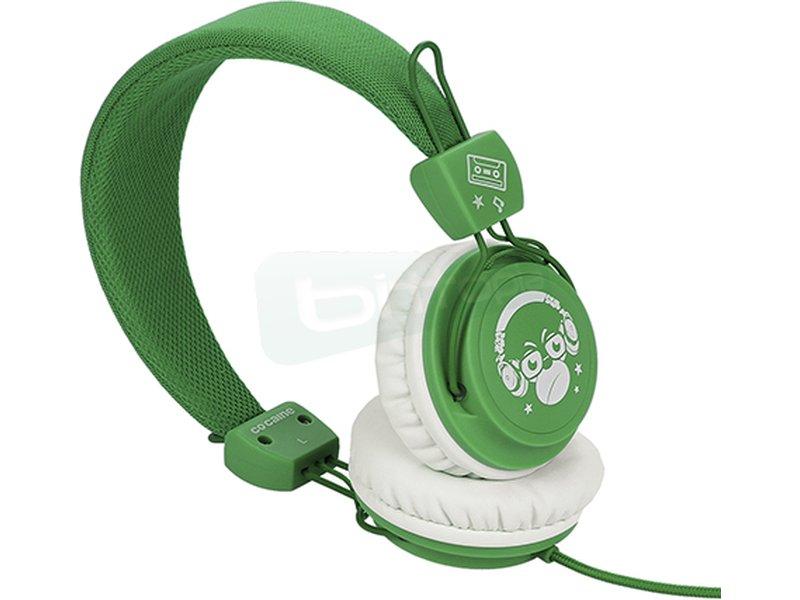 Co:caine City Beat Green Monkey - Auricular diadema. Frecuencia 20Hz-20kHz. Jack 3.5mm. Altavoces de 40mm.