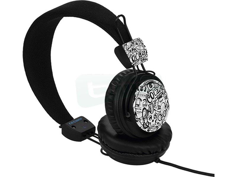 Co:caine City Beat Urban - Auricular diadema. Frecuencia 20Hz-20kHz. Jack 3.5mm. Altavoces de 40mm.