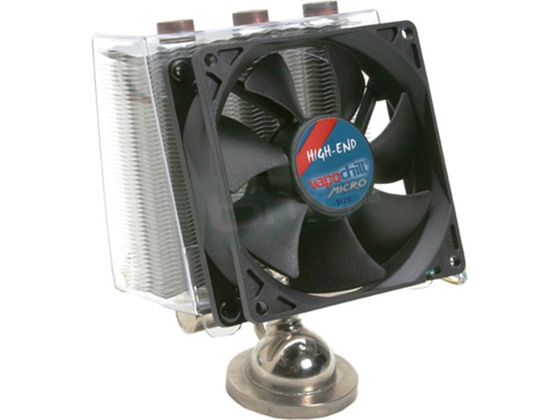 Asetek Vapochill Micro 754/939/940 High End - Cooler para CPU con base y tubos de cobre. Incluye ventilador de 92mm. Compatible con socket 754. 939 y 940.