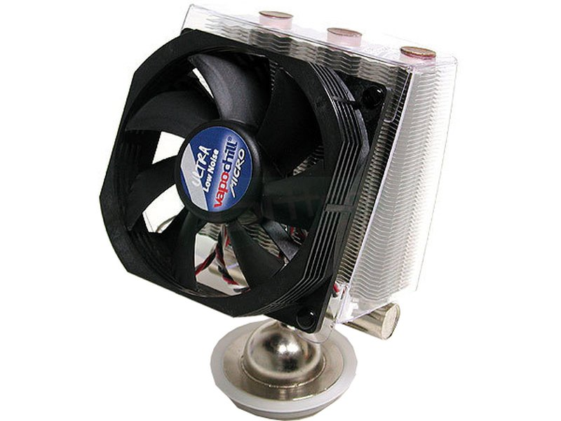 Asetek Vapochill Micro 754/939/940 Low Noise - Cooler para CPU con base y tubos de cobre. Incluye ventilador de 92mm. Compatible con socket 754. 939 y 940.
