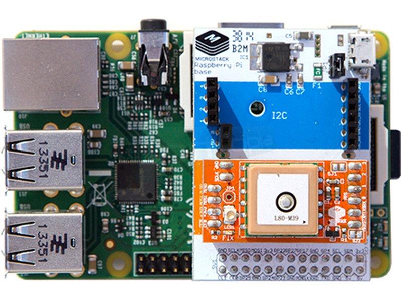 Baseboard Microstack para Raspberry Pi - Placa base que permite conectar sensores Microstack a las Raspberry Pi.