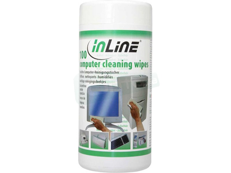 Inline 43200. PAK 100 toallitas de Limpieza - Dispensador de toallitas de limpieza. 100 unidades.