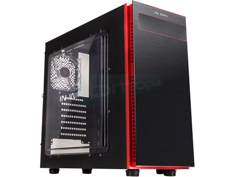 In Win 703 Negra - Caja Torre en color negro. Conexiones: 1 x USB 3.0. 2 x USB 2.0 y AudioHD. 7 PCI. 1 bahía externa 5.25. 2 bahías internas 5.25. 4 bahías internas 3.5. 2 bahías internas 2.5.