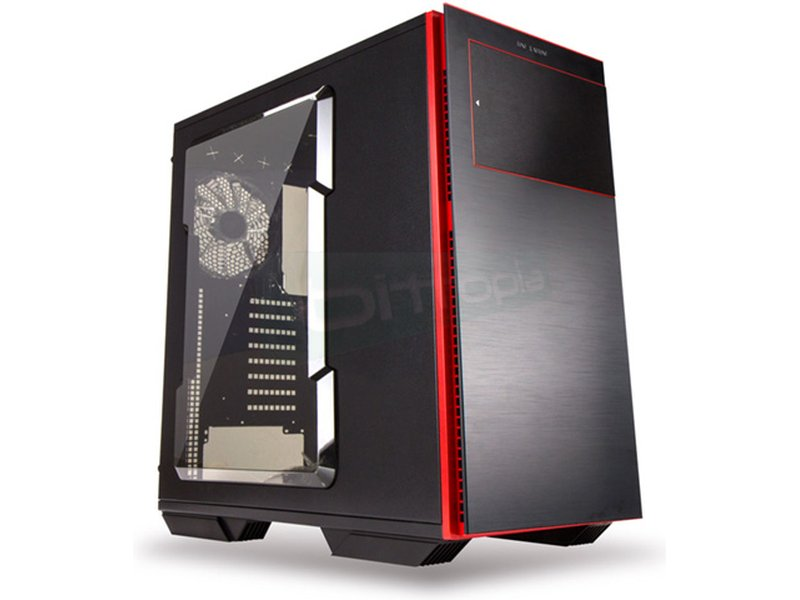 In Win 707 Negra - Caja Semiorre en color negro. Conexiones: 2 x USB 3.0. 2 x USB 2.0 y AudioHD. 8 PCI. 3 bahía externa 5.25. 8 bahías internas 3.5/2.5.