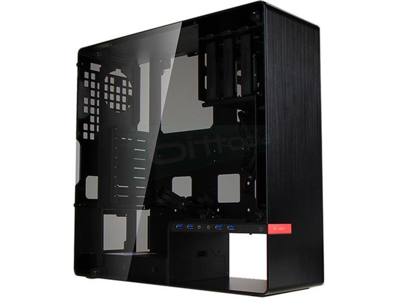 In Win 904 Plus Negra - Caja Semiorre en color negro. Conexiones: 4 x USB 3.0 y AudioHD. 8 PCI. 1 bahía externa 5.25. 3 bahías internas 3.5. 2 bahías internas 2.5.