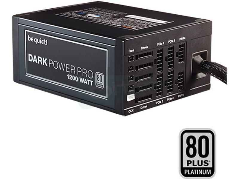 be quiet!  P11-PRO 1200W Dark Power 80Plus Platinum - Fuente de alimentación ATX de 1200W. Certificación 80+ Platinum. Ventilador SilentWings de 135mm. 10.7~27.9dBA. 4 Railes 12V. Cableado Modular.