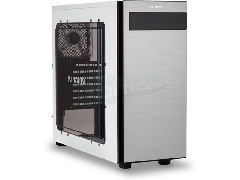 In Win 703 Blanca - Caja Torre en color blanco. Conexiones: 1 x USB 3.0. 2 x USB 2.0 y AudioHD. 7 PCI. 1 bahía externa 5.25. 2 bahías internas 5.25. 4 bahías internas 3.5. 2 bahías internas 2.5.