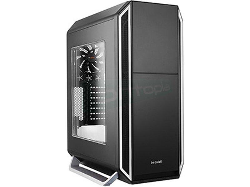 be quiet! Silent Base 800 Plata con Ventana - Caja Semitorre en color negro/plata. Incluye lateral con ventana. Conexiones: 2 x USB 3.0. 2 x USB 2.0 y Audio HD. Compatible con gráficas hasta 400mm. 7 PCI. 3 bahías externas 5.25. 7 bahías internas 3.5. 4 bahías internas 2.5.
