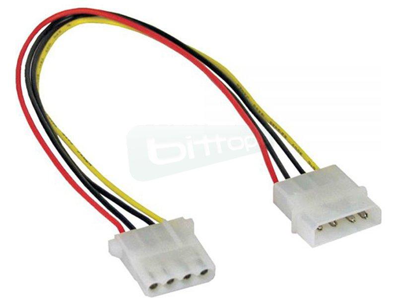 Inline 29650B. Cable alargador alimentación Molex 4-Pin 50cm.
