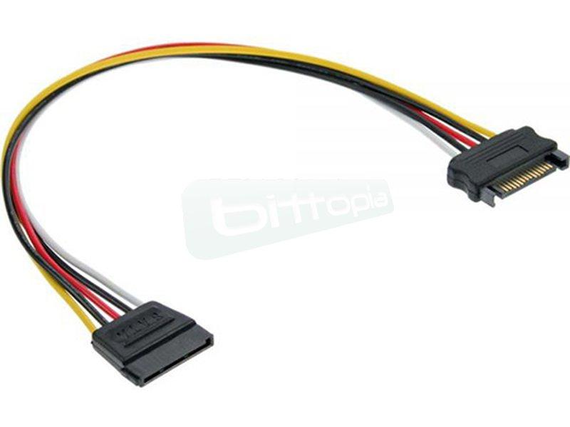 Inline 29651A. Cable alargador alimentación SATA 30cm. - Cable alargador alimentación SATA. Longitud 30cm.