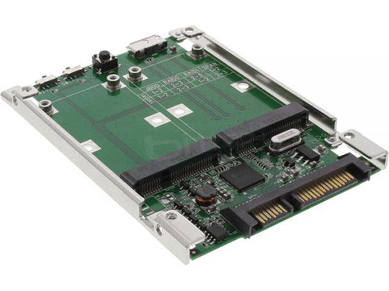 Inline 76620A. Adaptador mSATA y USB 3.0. a SATA 2.5 - Adaptador para unidades mSATA o USB 3.0 a SATA 2.5. Compatible con RAID 0, RAID 1, JBOD y SPAN.