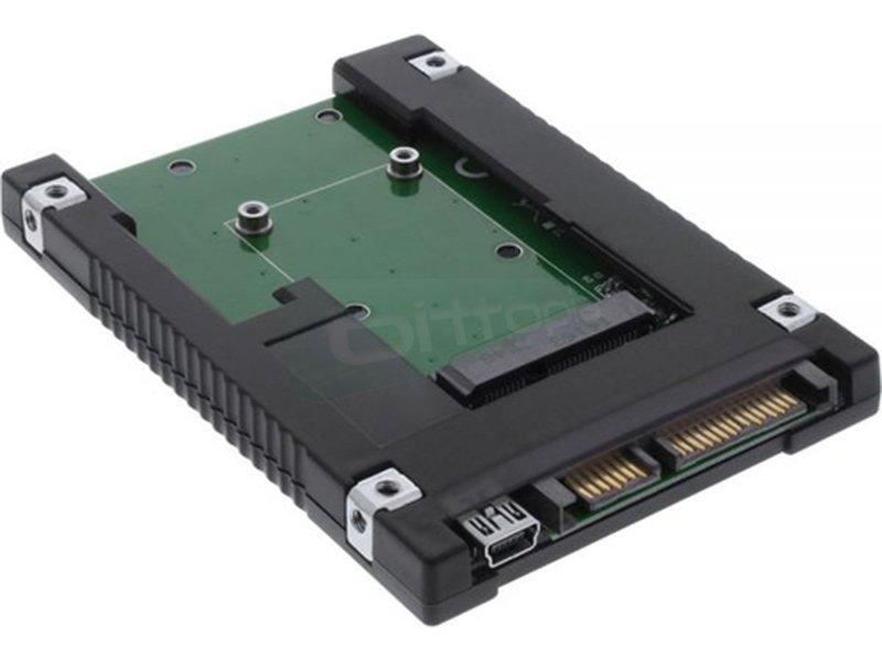 Inline 76620B. Adaptador mSATA a SATA 2.5 - Adaptador de dispositivos mSATA a SATA 2.5. Dimensiones 100.2mm x 69.9mm x 9.8mm.