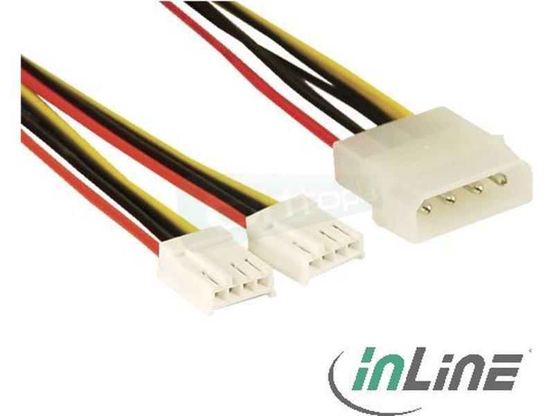 Inline 26950. Cable alimentación Y. 1x Molex 4-Pin a 2x 4-Pin