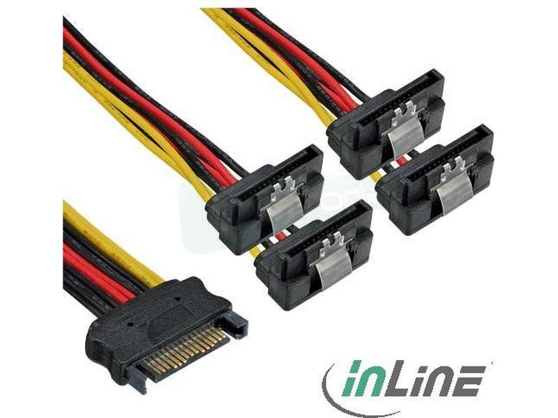 Inline 29683V. Cable alimentación SATA a 4x SATA. - Cable SATA de alimentación para discos duros y unidades SATA.